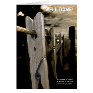 Well Done - Peg Card