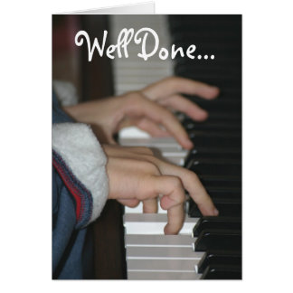 Well Done Piano Examination Card