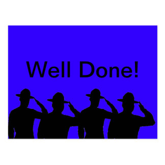 Well Done - Saluting Sergeants Postcard