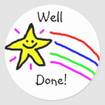 Well Done Star Stickers