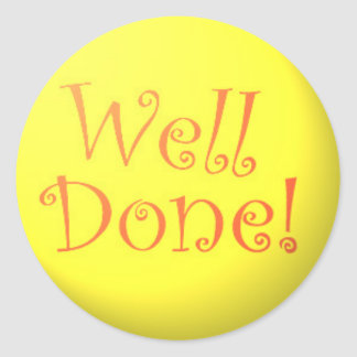 Well Done! stickers