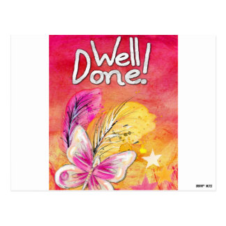 Well Done! - You Are Horrible at Parking Pink Postcard