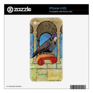 Well Dressed Raven iPhone 4 Skin