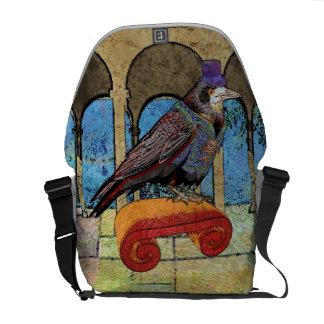 Well Dressed Raven Messenger Bag