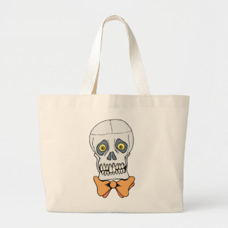 Well-Dressed Skull Canvas Bag