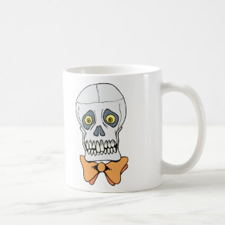 Well-Dressed Skull Classic White Coffee Mug
