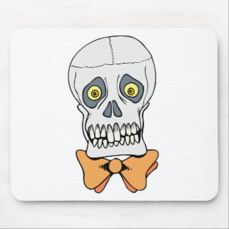 Well-Dressed Skull Mouse Pad