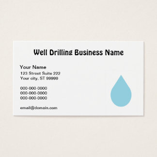 Well Drilling Business Card