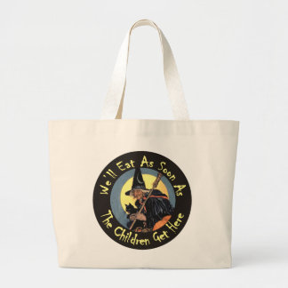 We'll Eat As Soon As The Children Get Here Jumbo Tote Bag