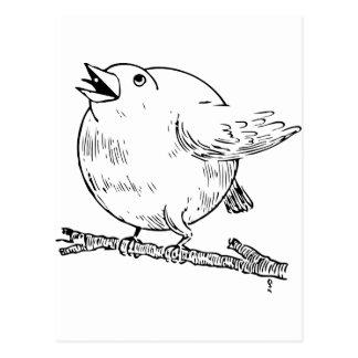 Well fed bird postcard