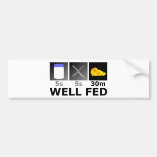 Well Fed Bumper Sticker