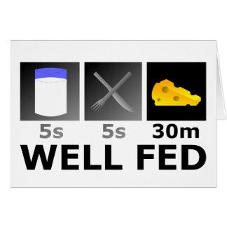 Well Fed Card
