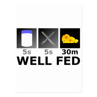 Well Fed Postcard
