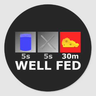 Well Fed Stickers