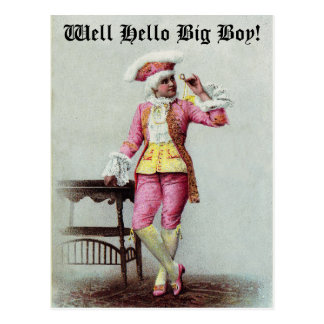 Well Hello Big Boy - Postcard