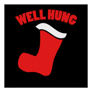 Well hung stocking poster