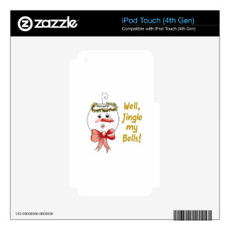 WELL JINGLE MY BELLS DECALS FOR iPod TOUCH 4G