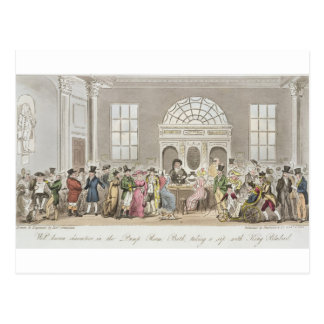 Well known Characters in the Pump Room, Bath, Taki Postcard