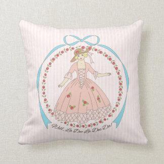Well La Dee Da Victorian Belle Throw Pillow