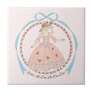Well La Dee Da Victorian Belle Tile