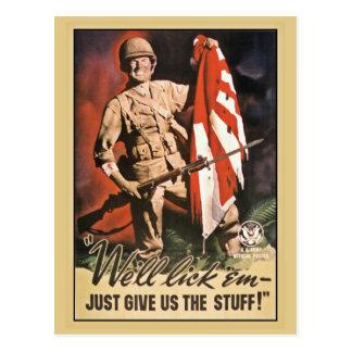 We'll lick 'em American World War 2 propaganda Postcard