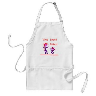 Well Loved Sister! Adult Apron