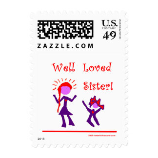 Well Loved Sister! Postage Stamps