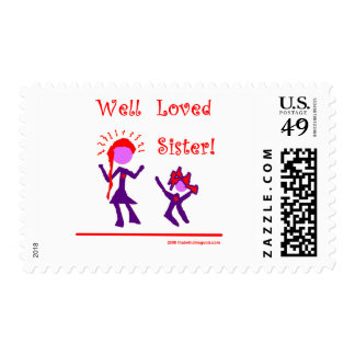 Well Loved Sister! Stamps