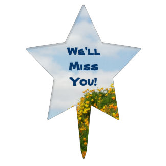 We'll Miss You! cake topper decorations Blue Sky