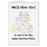 """""""We'll Miss You"""" or  """"Happy Graduation"""" Card"""