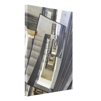 Well of Stairs Gallery Wrap Canvas
