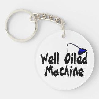Well Oiled Machine Oil Can Acrylic Keychain