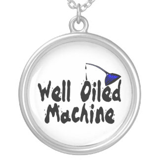 Well Oiled Machine Oil Can Silver Plated Necklace