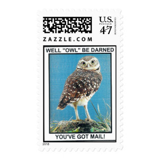 """WELL """"OWL"""" BE DARNED POSTAGE"""