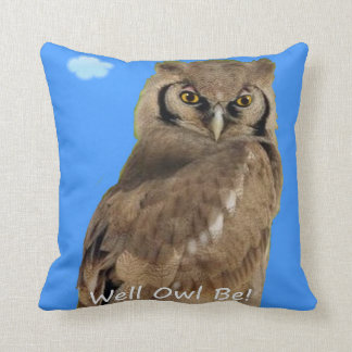 Well Owl Be! Throw Pillow