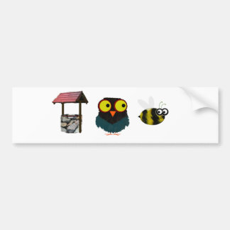 Well, Owl Bee - Bad Puns Bumper Sticker