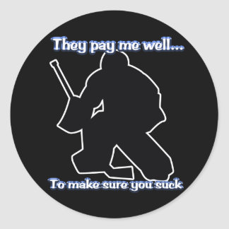 Well Paid Goalie Sticker