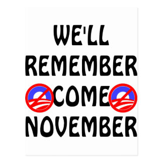 We'll Remember Come November Postcard