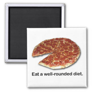 Well-Rounded Diet Square Magnet