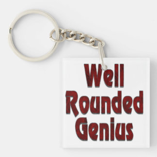 Well Rounded Genius Red Keychain