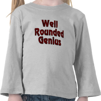 Well Rounded Genius Red Tshirts