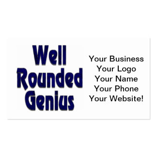 Well Rounded Genuis Blue Double-Sided Standard Business Cards (Pack Of 100)