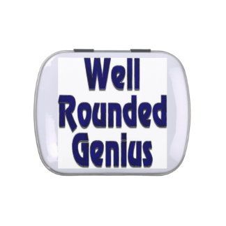 Well Rounded Genuis Blue Jelly Belly Tin