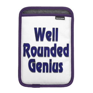 Well Rounded Genuis Blue iPad Mini Sleeves