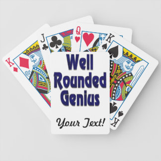 Well Rounded Genuis Blue Bicycle Playing Cards
