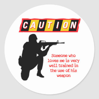 Well Trained Classic Round Sticker
