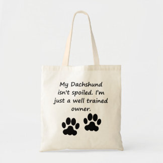Well Trained Dachshund Owner Bag