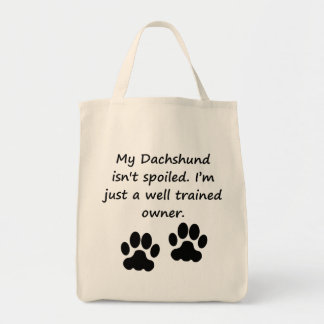 Well Trained Dachshund Owner Canvas Bag