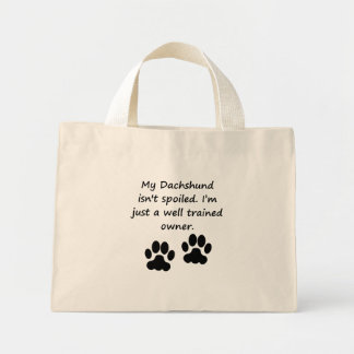 Well Trained Dachshund Owner Canvas Bags