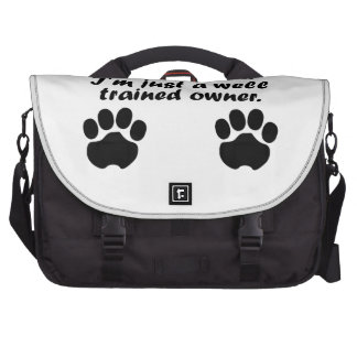 Well Trained Dachshund Owner Commuter Bags